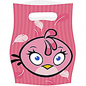 Angry Birds Pink Party Bags - Plastic Loot Bags