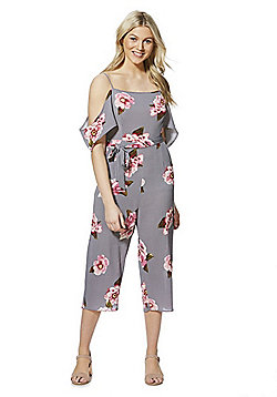 AX Paris Floral Print Culotte Jumpsuit - Multi