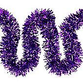 6m Purple Chunky Cut 10cm Christmas Tree Tinsel