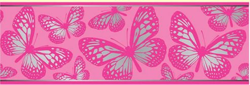 Buy Butterfly 7 Inch Wallpaper Border 5m From Our Wallpaper Range