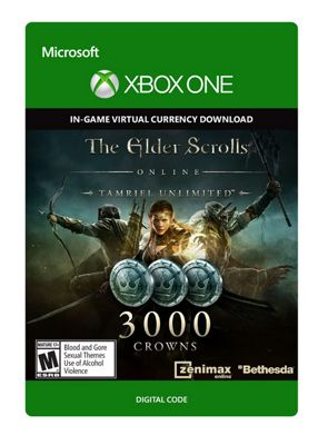The Elder Scrolls Online: Tamriel Unlimited Edition: 3000 Crowns  Xbox One (Digital Download Code)
