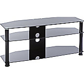 MMT Jet DB1150 Black Glass TV Stand for up to 50 inch