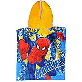 Marvel the Ultimate Spiderman 'Strikes' Hooded Poncho Towel