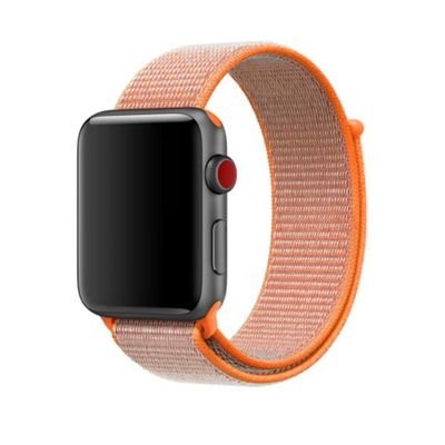 Apple MQWC2ZM/A Band Orange Nylon 42mm Spicy Sport Loop