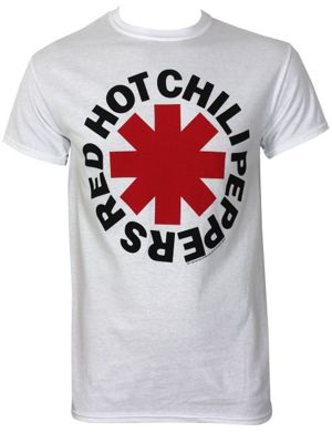 Red Hot Chili Peppers Asterisks White Men's RHCP T-shirt
