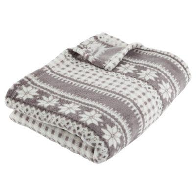 Buy Snowflake Basic Throw from our Blankets & Throws range - Tesco