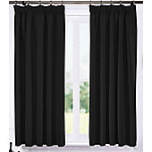 Living or Dining Room Thermal Blackout Curtains 46 x 72 in Black