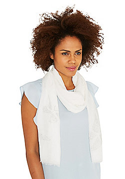 F&F Diamant© Butterfly Scarf - White