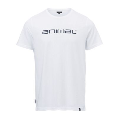 Animal Mens Classico T-Shirt White L