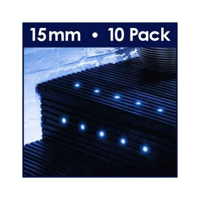 MiniSun Pack of Ten 15mm Blue LED Decking Lights