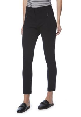 F&F Ponte Ankle Grazer Skinny Trousers with As New Technology 16 Black