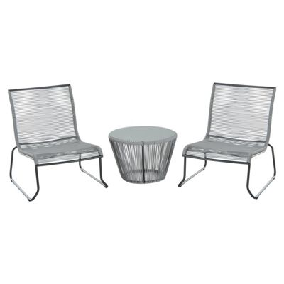 buy outsunny 3pc rattan table chairs set garden wicker 2 seater