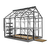 Rhino Premium Greenhouse – 6x8 - Natural Aluminium Finish