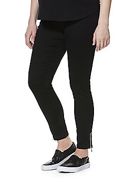 F&F Under-Bump Maternity Jeggings - Black