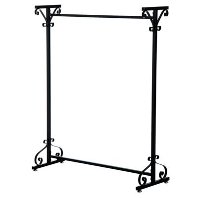 Homcom Hanger Metal Stand Rack Clothes Rail Storage Rail Bedroom Furniture