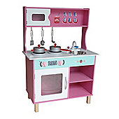 Kiddi Style Large Modern Wooden Kitchen - Pink