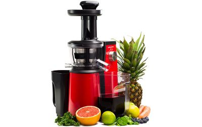 Andrew James Professional Masticating Slow Juicer in Red