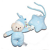 First Steps Teddy Bear & Star Musical Pull Cord Toy Blue
