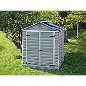 Palram Skylight Dark Grey Plastic Shed, 6x5ft