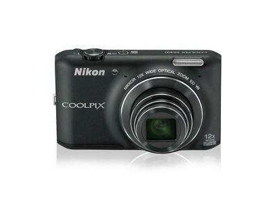 Nikon Coolpix S6400 Digital Camera, Black, 16MP, 12x Optical Zoom, 3.0 inch LCD Screen