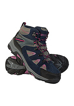 Mountain Warehouse Womens Fully Waterproof Boots with Suede and Mesh Upper - Red