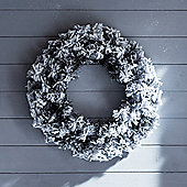 50cm Snowy Artificial Christmas Wreath