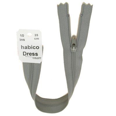 Dress Zip - 25cm - Lt Grey