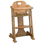 East Coast Wooden Multi-Height Highchair - Natural