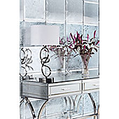 6 x Antique Mirrored Square Wall Tiles - Bevelled - 30cm x 30cm