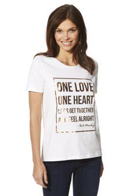 Bob Marley Slogan Band T-Shirt White 18
