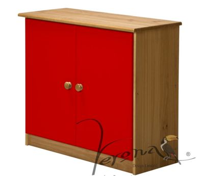 Rustic Retreat Ribera Sideboard - Antique / Red