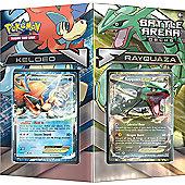 Pokemon TCG Battle Arena Deck Rayquaza vs Keldeo Card Game - POK80168
