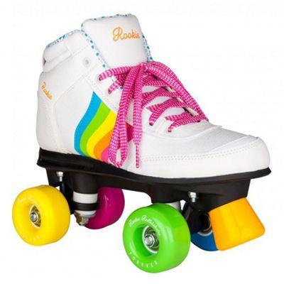 Rookie Forever Rainbow Quad Roller Skates - White/Multi UK 4