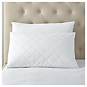 Fox & Ivy Cotton Covered Pillow Protector Pair