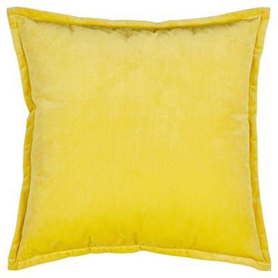 Tesco Velour Cushion Ochre