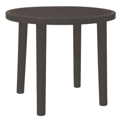 Resol Tossa Round Plastic Home Garden Dining Table - 86cm - Grey