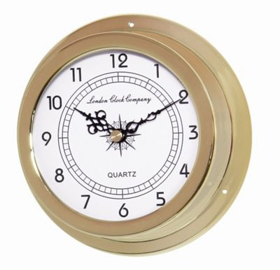 London Clock Company Wall Clock, Thermometer with Barometer and Hygrometer - Silver