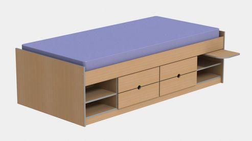 Ashcraft Teen Functional Cabin Bed Frame - Beech