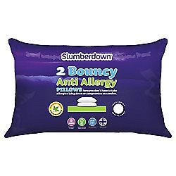 Slumberdown Bouncy Anti-Allergy pillow pair