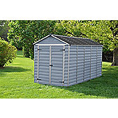Palram Skylight Dark Grey Plastic Shed, 6x12ft