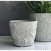 Flower Concrete Plant Pot Cover - Small