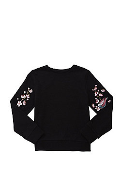 F&F Embroidered Sleeve Sweatshirt - Black