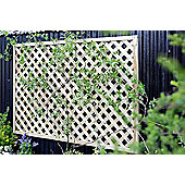 Elite Square Wooden Lattice Trellis, 3 pack, 120cm