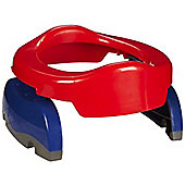 Potette Plus 2 In 1 Portable Potty & Trainer Seat (Red & Blue)