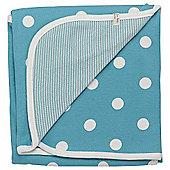 Pigeon Organics Reversible Blanket, Spotty (Blue)