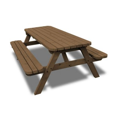 Oakham rounded picnic bench - 8ft
