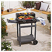 Tesco Rectangular Trolley Charcoal BBQ, Grey