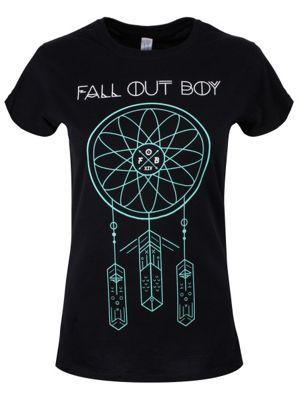 Fall Out Boy Dream Catcher Women's FOB T-shirt, Black.