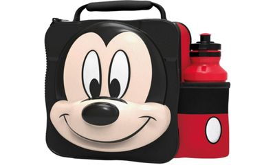 Disney Mickey Mouse 3d Lunch Bag with Bottle Box