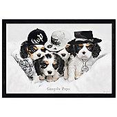 Keith Kimberlin Black Wooden Framed Gangsta Pups Poster